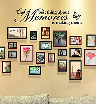 Botrong® The Best Thing About Memories is Making Them Removable Art Vinyl Mural Home Room Decor Wall Stickers by