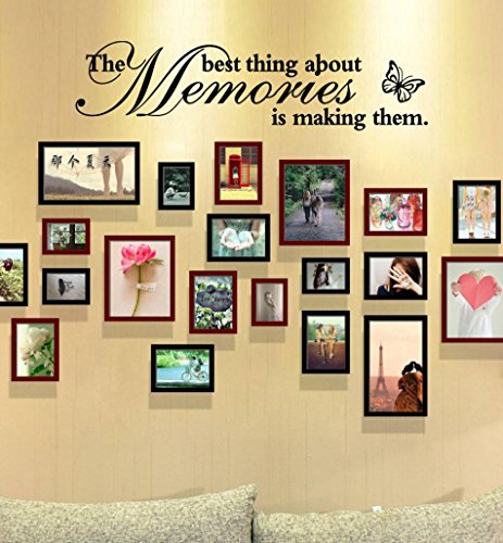 The Best Thing About Memories is Making Them Removable Art Vinyl Mural Home Room Decor Wall Stickers by Botrong (Wall Sports Letters Hanging)