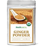 Healthworks Ginger Powder Raw Organic, 1lb, (packaging may vary)