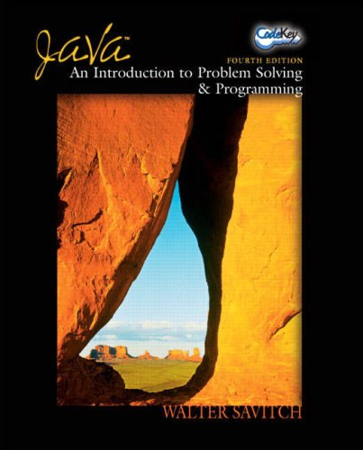 Java: WITH Codekey Student Access Kit AND The Essential Java Class Reference for Programmers (3rd Revised Edition): An Introduction to Problem Solving and Programming by Prentice Hall