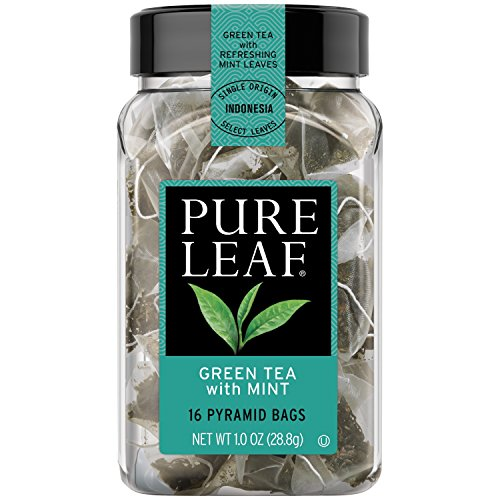 Pure Leaf Hot Tea Bags, Green Tea with Mint, 16 Count (Pack of 6)