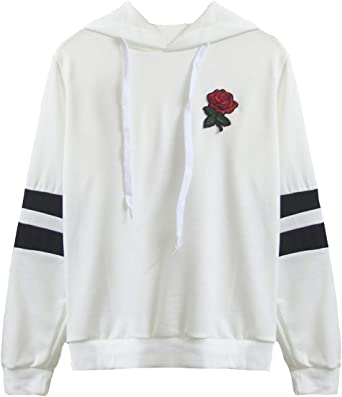 Pull Ado Fille Sweat Court Femme Pull Pas Cher Ado Fille /à La Mode Tee Shirt Automne Sport Ray/é Base-Ball Sweat-Shirt Printemps Chic T-Shirt Chemisier Pullover Sweat Shirt Streetwear