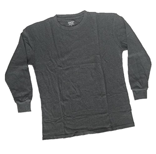 Architect Jean Company Men's Long Sleeve Thermal Crew, Heather Charcoal, XL