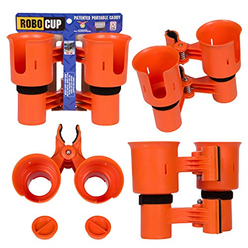 ROBOCUP, Orange, Updated Version, Best Cup Holder for Drinks, Fishing Rod/Pole, Boat, Beach Chair/Golf ()