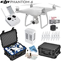 DJI Phantom 4 Quadcopter w/ eDigitalUSA Bundle: Includes Intelligent Flight Battery, SanDisk 32GB MicroSD Card, Go Professional Wheeled Carrying Case and more...