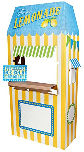 Carnival Games Party Supplies - Lemonade Cardboard Stand