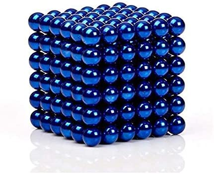 Sky Magnets 5 mm Magnetic Balls Cube Fidget Gadget Toys Rare Earth Magnet Office Desk Toy Games Magnet Toys Multicolor Beads Stress Relief Toys for Adults Blue