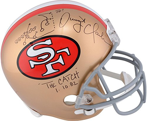 "Dwight Clark San Francisco 49ers Autographed Riddell Pro-Line Helmet with""Drawn Play"" Inscription - Fanatics Authentic Certified"