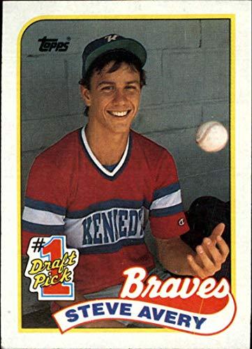 1989 Topps Baseball #784 Steve Avery RC Rookie Atlanta Braves Official MLB Trading Card (stock photo used, Sharp corners guaranteed)