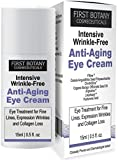 First Botany Cosmeceuticals INTENSIVE WRINKLE FREE ANTI AGING EYE CREAM with Argireline , Fiflow and other potent anti-wrinkle peptides, 15 ml