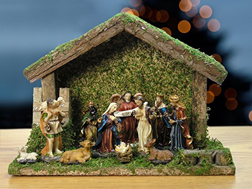 Banberry Designs Holy Family 11pc Barn
