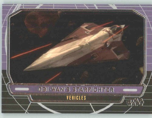 2012 Star Wars Galactic Files #252 Obi-Wan Kenoibi's Starfighter (Delta 7) (Non-Sport Collectible Trading Cards)