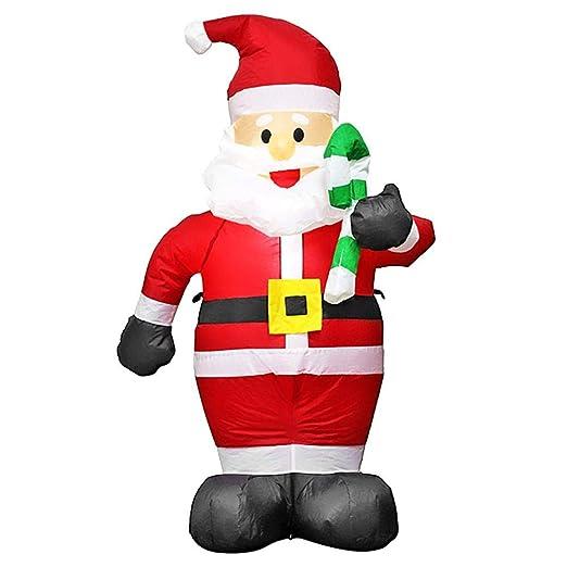 Matefielduk Disfraces Adultos Inflable,Juguete Inflable de Santa Claus para Decoración de Navidad Cosplay Fiesta