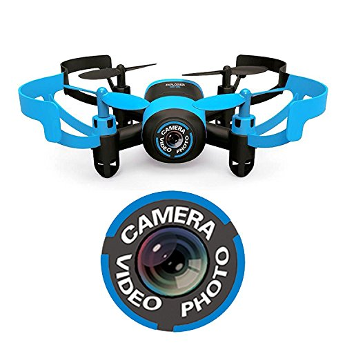 LITTLEPIG 512V Mini Drone Quadcopter RC 2.4Ghz 6-Axis Gyro 4 Channels Helicopter With Camera,Headless Mode(Blue Bee)