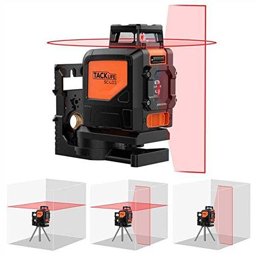 Line Laser,Tacklife SC-L03 Professional 30M Cross Laser Level Self-Leveling...