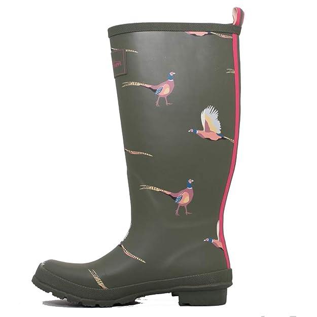 ff317a4d3 Brakeburn Womens Adjustable Buckle Flat Welly Print Wellington Rain Boots:  Amazon.co.uk: Shoes & Bags