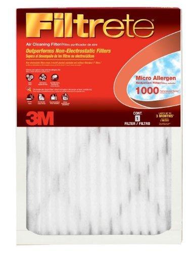 Filtrete MPR 1000 20 x 24 x 1 Micro Allergen Defense HVAC Air Filter, 4-Pack