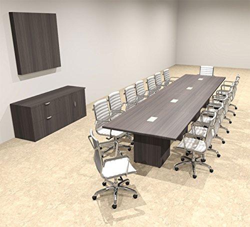Modern Rectangular Top Cube Leg 16' Feet Conference Table, OF-CON-CS24