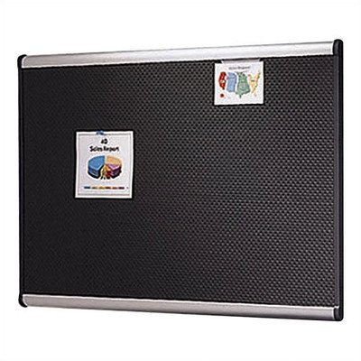 Quartet Prestige™ Black Embossed Foam Bulletin Board