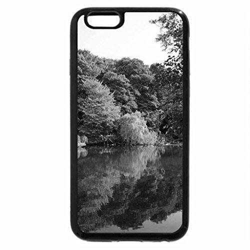 iPhone 6S Case, iPhone 6 Case (Black & White) - Calm river