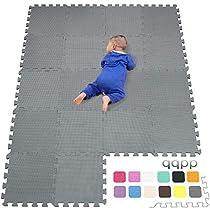 qqpp Alfombra Puzzle para Niños Bebe Infantil - Suelo de Goma EVA Suave. Alfombra Puzzle Bebe en Doce Combinaciones de