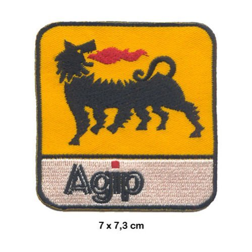 - AGIP Auto cars lubricants Racing Team Motorsport Formula 1 F1 Racing Race jacket t shirt Polo Patch Sew Iron on Embroidered