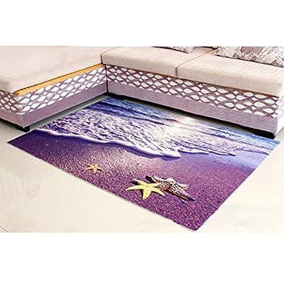 ZaH Thin 3D Ear Rug Non-slip Doormat Carpet Printing Rug for Living Room, Bedroom, Kitchen, Bathroom
