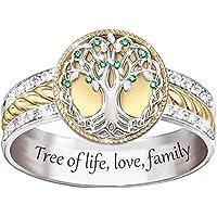 Sunflower Ring, Tree of Life Ring Fashionable Two-Color for Women Men, Boho Floral Ring, Sunflower Rings for Women…