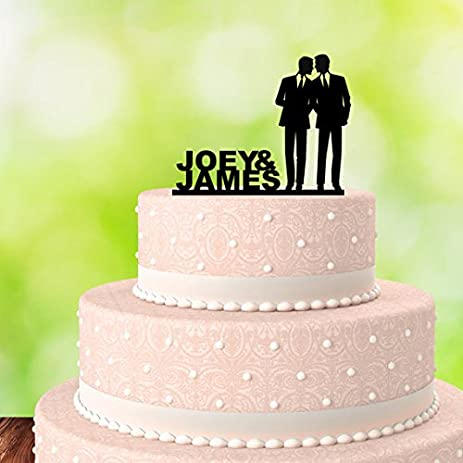 Amazon gay cake topper his and his gay wedding cake topper gay cake topper his and his gay wedding cake topper same sex wedding junglespirit Image collections
