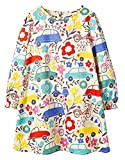 HILEELANG Toddler Little Girl Floral Dress Cotton Long Sleeve Casual Party Daily Dresses