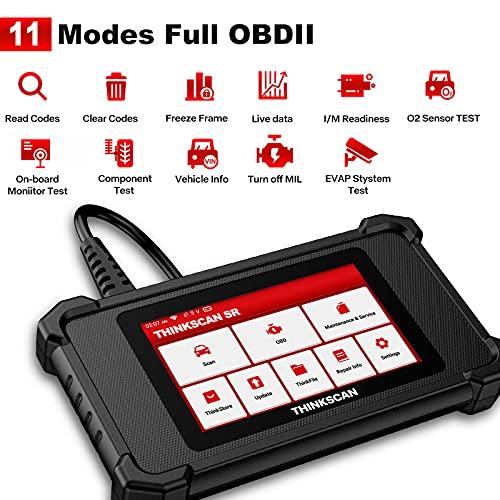 ThinkScan SR4 OBD2 Scanner, Diagnostic Scanner for Car ABS/SRS/Engine/Transmission System, Check Engine Coder Reader OBDII Scanner Android 7.0 5