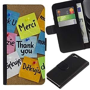 All Phone Most Case / Oferta Especial Cáscara Funda de cuero Monedero Cubierta de proteccion Caso / Wallet Case for Apple Iphone 6 // Thank You Languages