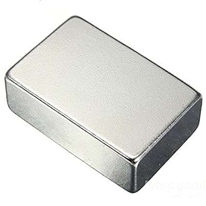 Magnetastico® | 1 pieza imán ultra fuerte de neodimio N52 rectangular 40x20x10 mm | Imán