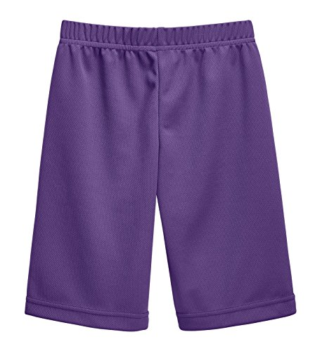 City Threads Athletic Shorts For Boys and Girls Sports Camps School Running Basketball Shorts Perfect For Sensitive Skin On SPD Clothing, Purple, 16 ()