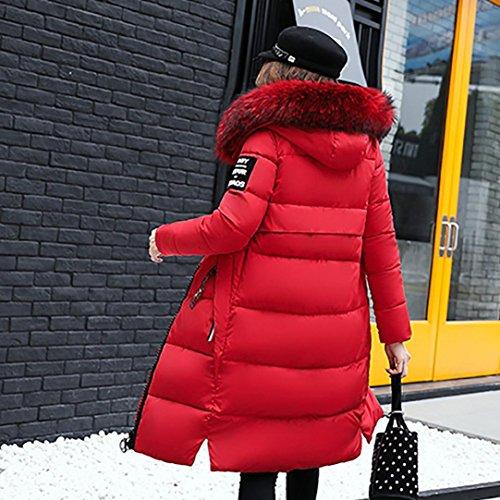 Cappotto Cappotto Lookatool Inverno Donne Rosso Spessa Di Solido Sottile Lammy Piumino Casuale vx6zHwqBv