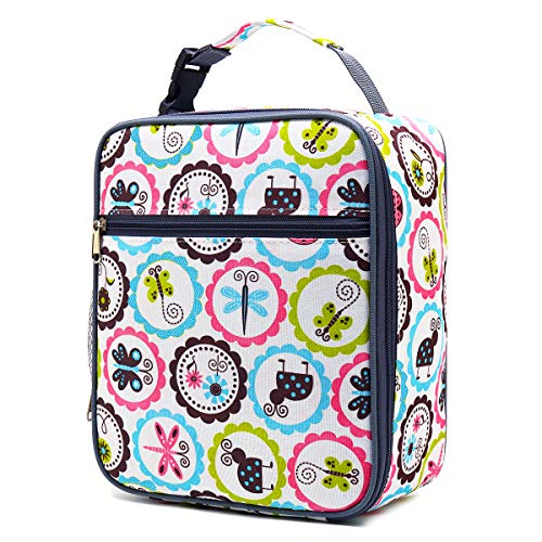 (Kids Lunch box Insulated Soft Bag Mini Cooler Back to School Thermal Meal Tote Kit for Girls, Boys by FlowFly,Cartoon )
