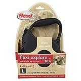 Flexi Large Retractable 26-Foot Classic Long 3 Tape Leash, Black, My Pet Supplies