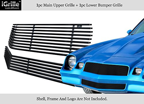 For 1978-1981 Chevy Camaro Stainless Steel Black Billet Grille Combo ()