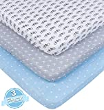 BaeBae Goods Pack n Play Playard Sheet Set | 3 Pack | 100% Super Soft Jersey Knit Cotton (150 GSM) | Portable Mini Crib Mattress Fitted Sheets for Boys & Girls Review
