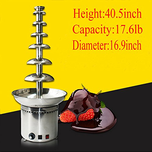 Intbuying 110V Electrics 7 Tier Mini Best Chocolate Fondue Fountain for Sale To Buy Home Use