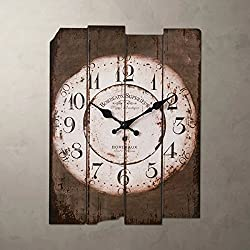 SMC H15 Country Style Vintage Wall Clock Home Decor Design Antique Style Silent Wall Clocks