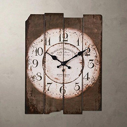Smc h15 country style vintage wall clock home decor design antique style silent wall clocks - Antique clock designs for your home ...
