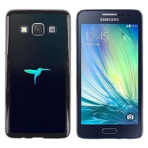 Be Good Phone Accessory // Dura Cáscara cubierta Protectora Caso Carcasa Funda de Protección para Samsung Galaxy A3 SM-A300 // Laser bird