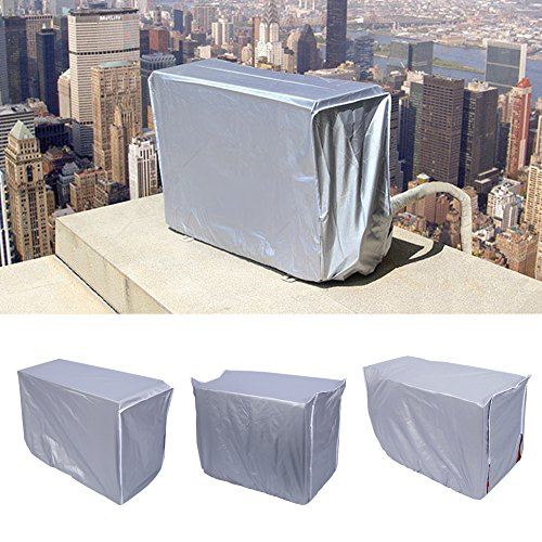 Yosoo Air Conditioner Cover, Anti-Dust Anti-Snow Conditioner Protector for Outdoor Use, Rectangle, Silver (Size: 31×11×21inch/2.62×0.92×1.77ft) by Yosoo (Image #6)