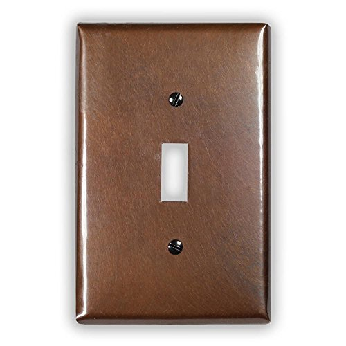 Antique Copper 1 Toggle Wallplate by Copper Ventures