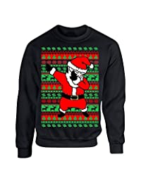 Allntrends Adult Crewneck Dabbing Santa Ugly Christmas Sweater
