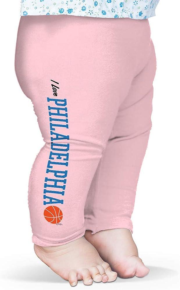 Twisted Envy Baby Pants I Love Philadelphia Basketball Baby and Toddler Girls Leggings