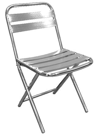 Bolero U420 Chaise Pliante Aluminium 430 Mm L X 560 D 800