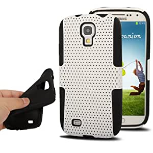 DapurMu - Hollow Plastic + Silicon Combination Case for Samsung Galaxy S IV / i9500 (White)
