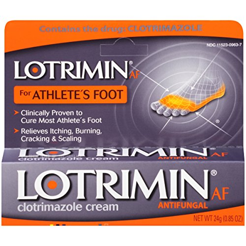 Lotrimin AF Antifungal Cream for Athlete's Foot, .85-Ounce Tubes (Pack of 2) (Antifungal Creme)